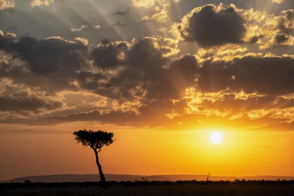 Sunrise over Africa